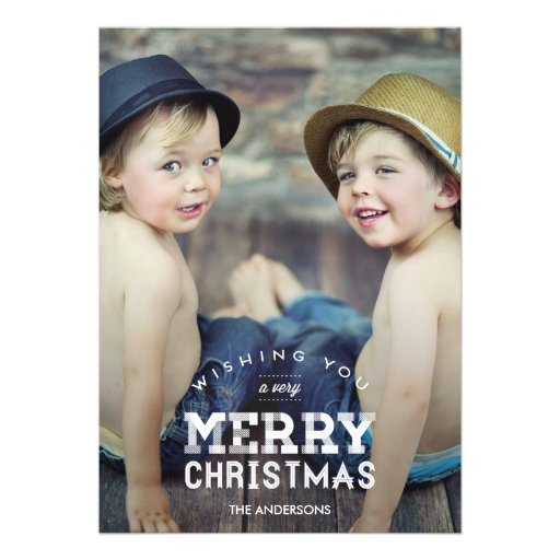 Vintage Christmas Holiday Photo Cards Card
