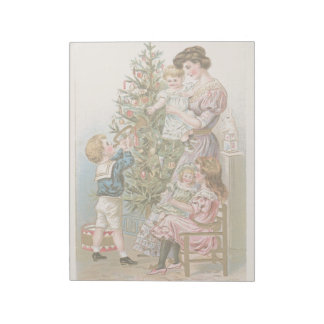 Vintage Christmas Holidays Family Christmas Tree Notepads