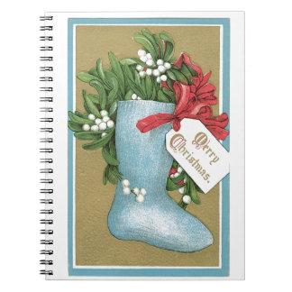 Vintage Christmas Holidays Nostalgia Old Fashioned Spiral Note Book
