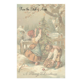 Vintage Christmas Holidays Nostalgia Old Fashioned Stationery