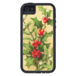 Vintage Christmas Holly Case For The iPhone 5