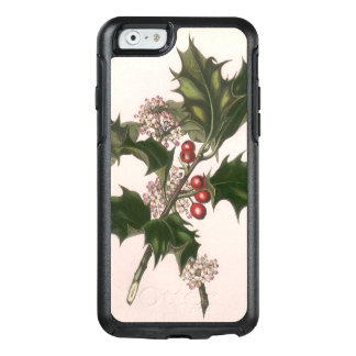 Vintage Christmas, Holly Plant with Red Berries OtterBox iPhone 6/6s Case