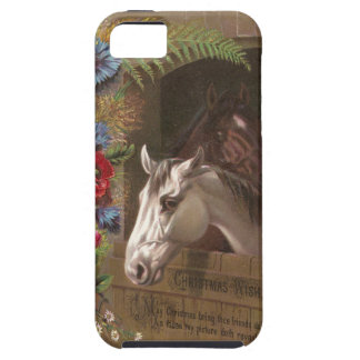 Vintage Christmas Horse iPhone 5 Covers