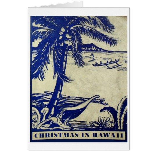 Vintage Christmas in Hawaii Card
