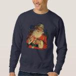 Vintage Christmas, Jolly Santa Claus with Toys Sweatshirt