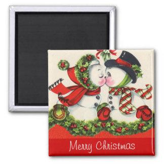 Vintage Christmas Kiss Magnet