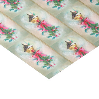 Vintage Christmas lamp Holiday tissue Tissue Paper