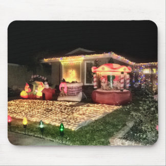 Vintage Christmas Lights and Decorations Mouse Pad