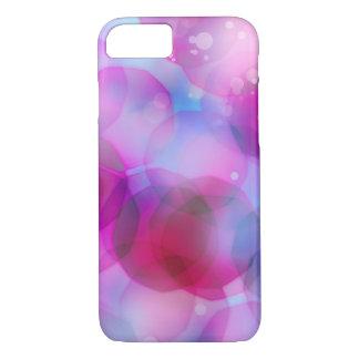 Vintage Christmas Lights Background. Pink & Blue iPhone 8/7 Case