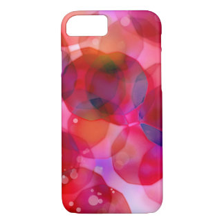 Vintage Christmas Lights Background. Red & Purple iPhone 8/7 Case