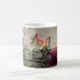 Vintage Christmas, Love and Romance Classic White Coffee Mug
