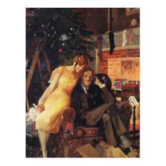 Vintage Christmas Love and Romance Postcard