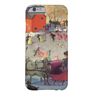 Vintage Christmas, Love and Romance Sleigh Barely There iPhone 6 Case