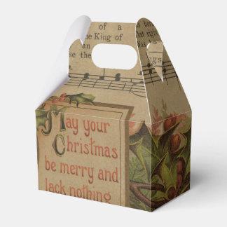 Vintage Christmas Music Sheet Holiday Favor Box
