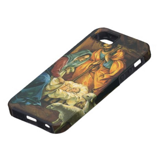 Vintage Christmas Nativity, Baby Jesus in Manger iPhone 5 Covers