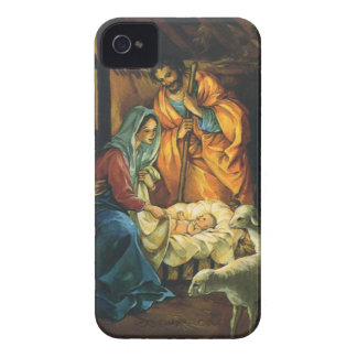 Vintage Christmas Nativity, Baby Jesus in Manger Case-Mate iPhone 4 Case