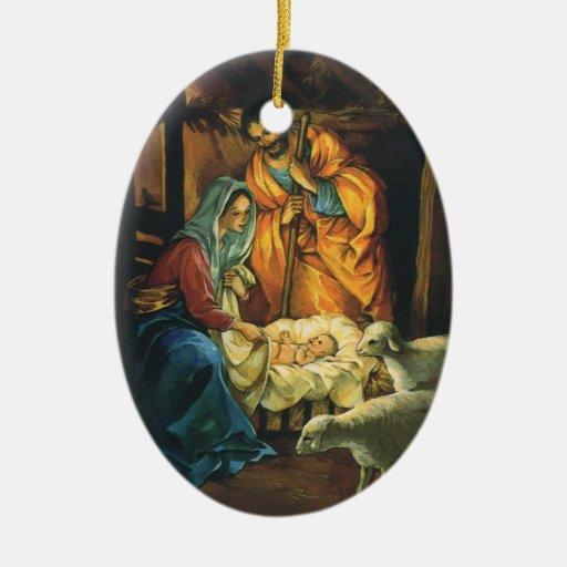 Vintage Religious Christmas Ornament: Religious Tree Ornaments, Religious Decorative Ornaments