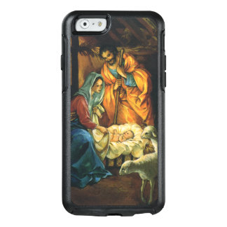 Vintage Christmas Nativity, Baby Jesus in Manger OtterBox iPhone 6/6s Case