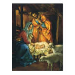 Vintage Christmas Nativity, Baby Jesus in Manger Postcards