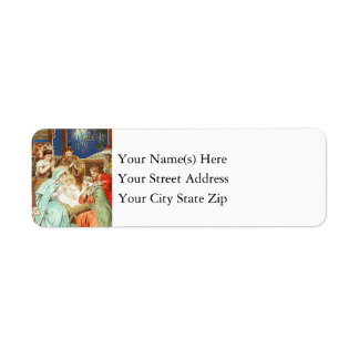 Vintage Christmas Nativity Return Address Label