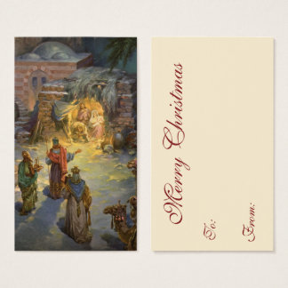 Vintage Christmas Nativity with Visiting Magi Business Card