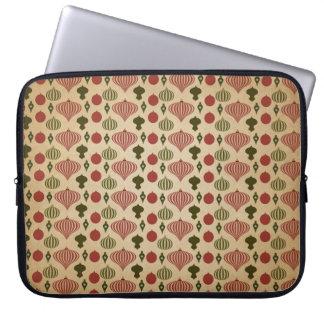 Vintage Christmas Ornament Pattern Laptop Sleeve