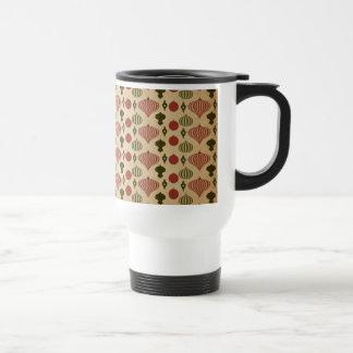 Vintage Christmas Ornament Pattern Travel Mug
