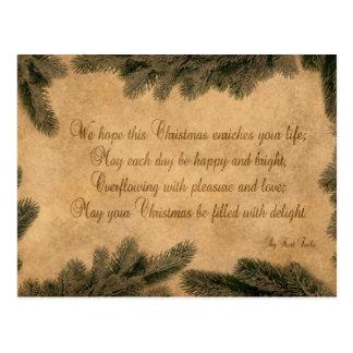 Vintage Christmas Paper - Postcard