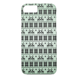 Vintage Christmas pattern iPhone 7 Case