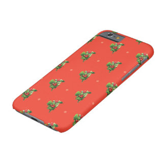 Vintage Christmas Pattern with Holly Berry Plants Barely There iPhone 6 Case