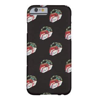 Vintage Christmas Pattern with Wrapped Presents Barely There iPhone 6 Case