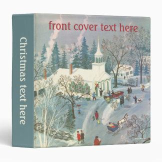 Vintage Christmas, People Going to Church in Snow Binders