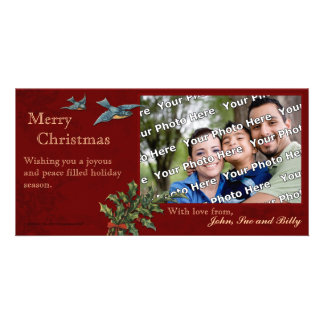Vintage Christmas Photocard Photo Card Template