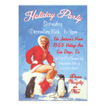 Vintage Christmas Pin Up Holiday Party Invitations