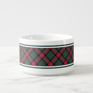 Vintage Christmas Plaid Pattern Ceramic Bowl