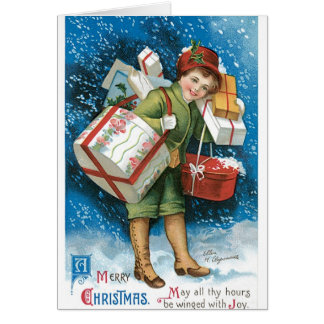Vintage Christmas Presents Cards