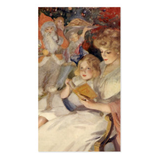 Vintage Christmas, Reading Bedtime Stories Business Card