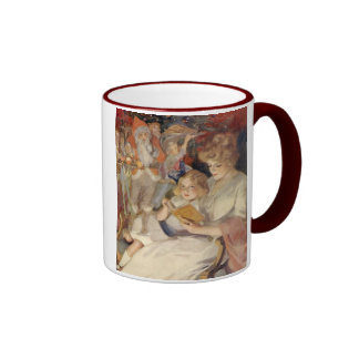 Vintage Christmas, Reading Bedtime Stories Mugs