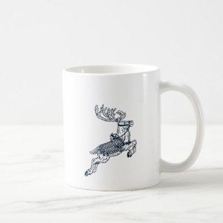 Vintage christmas reindeer coffee mug