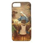 Vintage Christmas, Religious Nativity w Baby Jesus Case-Mate iPhone Case