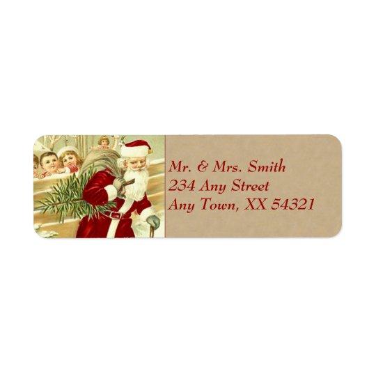 Vintage Christmas Return Address Label
