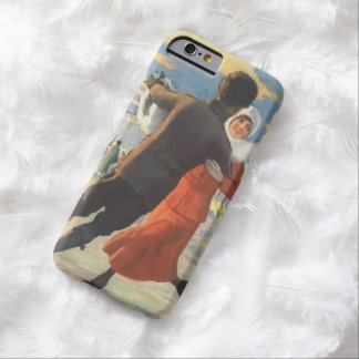 Vintage Christmas, Romantic Couple Ice Skating Barely There iPhone 6 Case