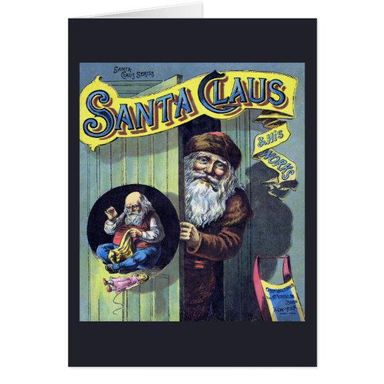 Vintage Christmas, Santa Claus and His Works Book Card