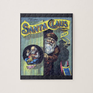 Vintage Christmas, Santa Claus and His Works Book Jigsaw Puzzle
