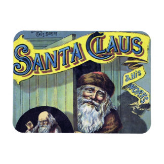 Vintage Christmas, Santa Claus and His Works Rectangular Photo Magnet