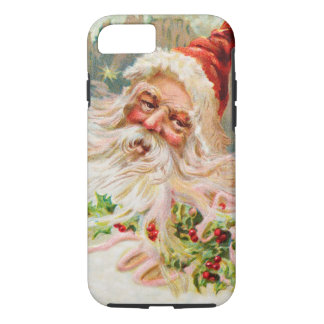 Vintage Christmas Santa Claus Art iPhone 8/7 Case