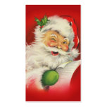Vintage Christmas Santa Claus Business Card