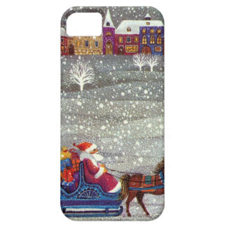 Vintage Christmas, Santa Claus Horse Open Sleigh iPhone 5 Cover