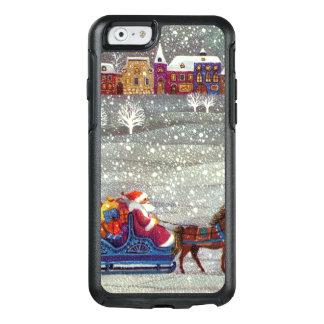 Vintage Christmas, Santa Claus Horse Open Sleigh OtterBox iPhone 6/6s Case