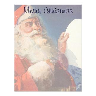 Vintage Christmas, Santa Claus Naughty Nice List Custom Letterhead